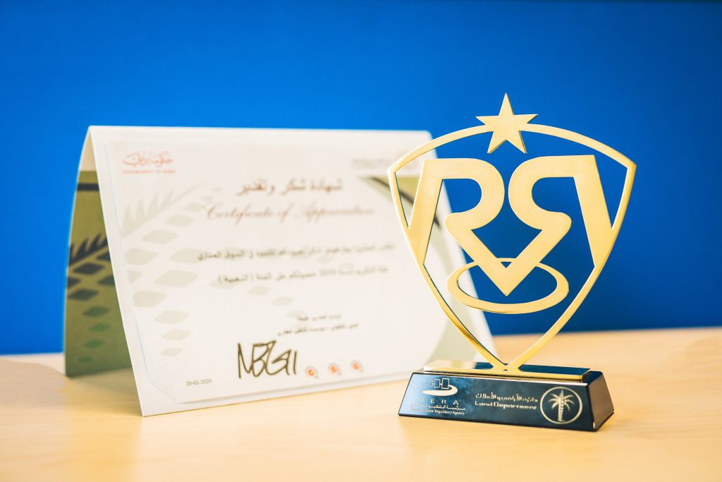RERA - Dubai Land Department Award for Betterhomes LLC