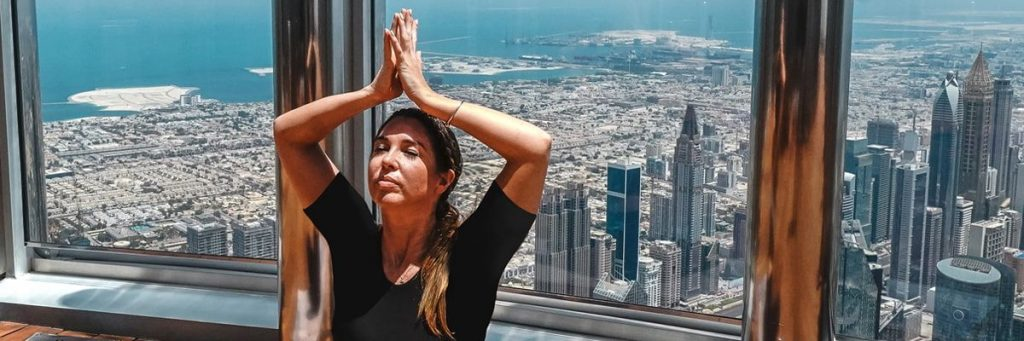 yoga at the top